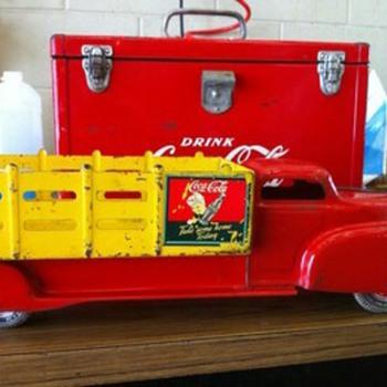 """Marx 22"""" coca cola truck"""