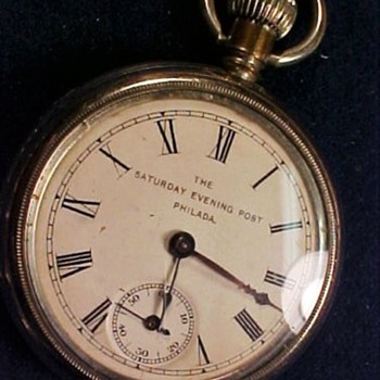 Saturday Evening Post Advertisement Pocket Watch