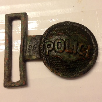 Dug civil war era police belt plate