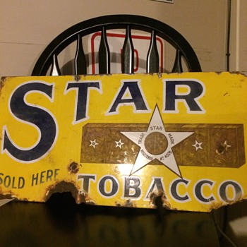 Star Tobacco Sign - Advertising