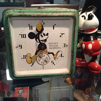 1934 English Mickey Mouse clock - Clocks