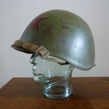 Russian WWII Ssh39 helmet, produced in 1939-1941.