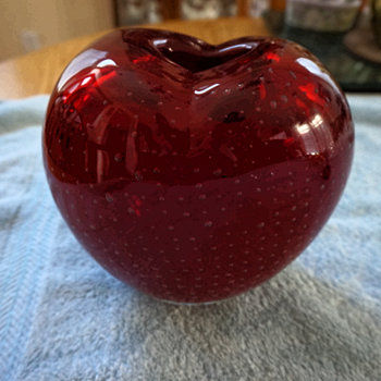 Murano Controlled Bubble Heart Vase