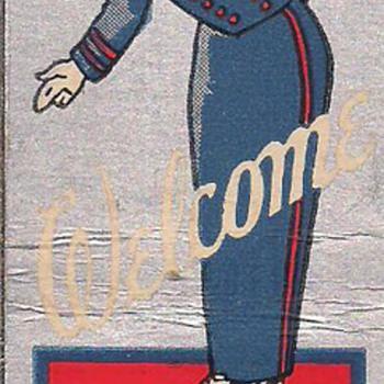 Art Deco Bellhop Matchcover - Tobacciana