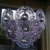 Vintage Gino Vistosi Murano Neodymium glass Chandelier