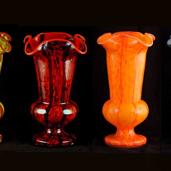 Welz Honeycomb Decors - Multiple Colors - Several Distinct Shapes - Art Glass