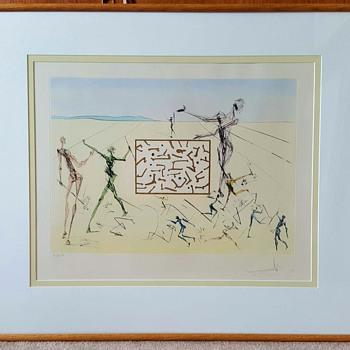 """Salvador Dali print Hommage à Leonardo da Vinci """"L'Electronique (Computer Circuit)"""""""