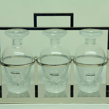 Lalique 3 Decanter Tantalus 1990, HAVE YOU SEEN ANOTHER?