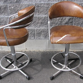 Vintage Chrome Samsonite Stools - Furniture