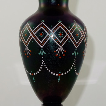 Harrach Bronzed Glass vase, ca. 1878, produced for Blumberg Co, London