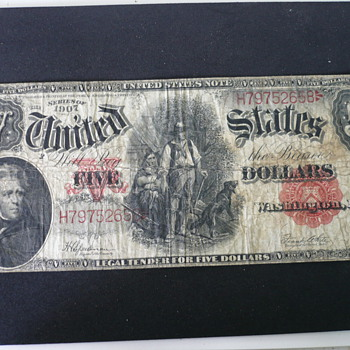 1907 $5 Bill - US Paper Money
