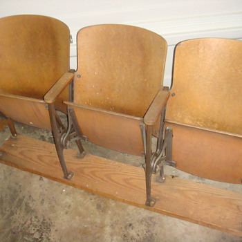 Vintage Antique Theater Chairs (set of 3) - Furniture