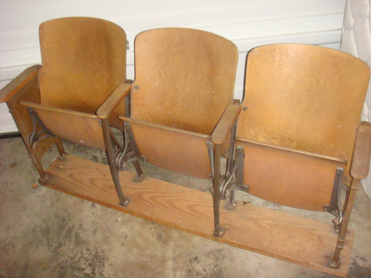 Antique theater chairs - Antique Theater Chairs 1