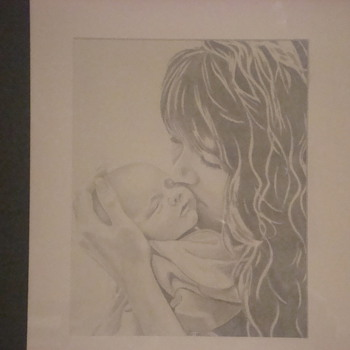 Mother and Child drawing - Posters and Prints