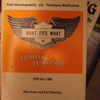 What Fits What on Harley Davidson 3rd Edition 1936-1980 printed in 1978 - Motorcycles