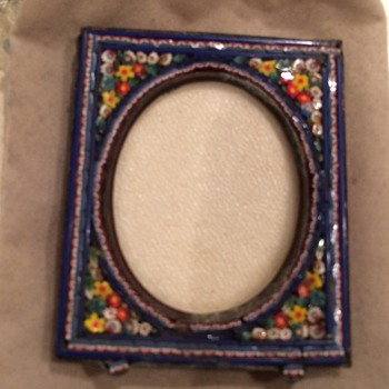 Antique Italy mosaic picture frame  - Visual Art