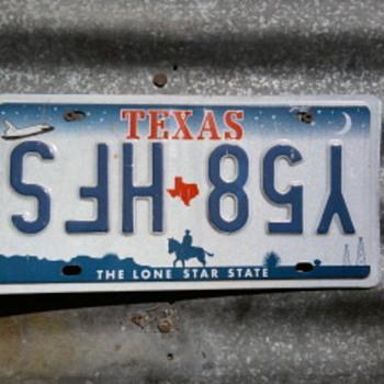 Texas Misprint Plate