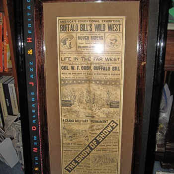 Buffalo Bill Wild West World's Fair Cowboys and Indians Advertisement Show of All Shows