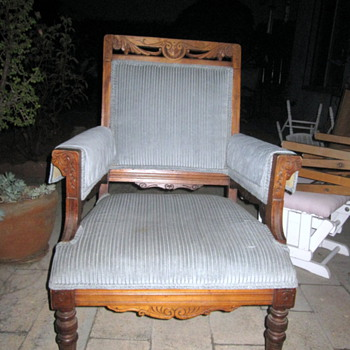 Unknown Wooden & Upholstered Chair