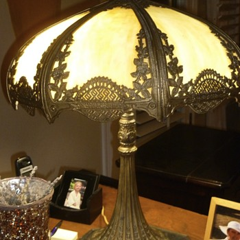 My grandmother's slag lamp from 1910? Anyone know more? - Lamps