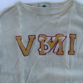 1937 Virginia Military Institute sweater