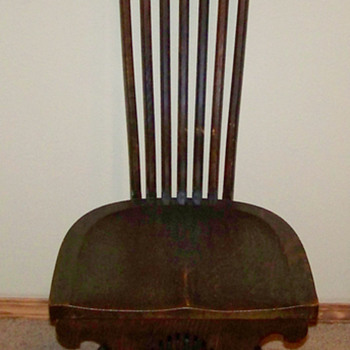 Oak Hall Chair W/Tall Bentwood Back???