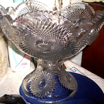 I found a Heisey Punch bowl today $ 15.00 Help with Pattern?? - Glassware