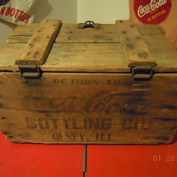 Coca-Cola Bottle Case, Early 1900's, Wood