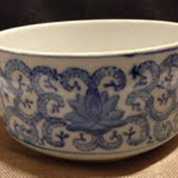 Perfect sized porcelain bowl / Blue white no mark
