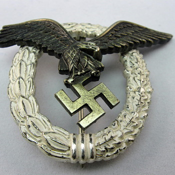 WWII Luftwaffe GWL Pilot Badge - Military and Wartime