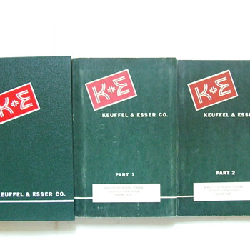 Three 1955 Keuffel & Esser Co. Surveying Equipment Catalogs