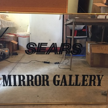 SEARS DEPT. STORE MIRROR GALLERY DISPLAY MIRROR 1984-2000