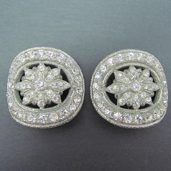 Antique/Vintage Rhinestone Sash Buckles - Art Deco