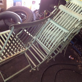 Vintage Metal Deck Chairs - information required