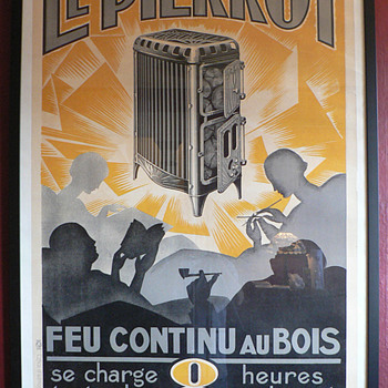 Le Pierrot advertising poster from France, circa 1920&#039;s.