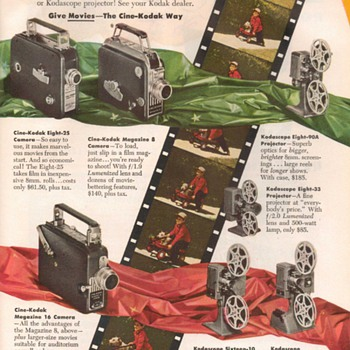 1948 - Kodak Movie Cameras Advertisement - Advertising