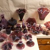 part of my fenton plum opalescent hobnail collection