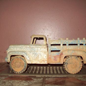 old toy metal truck