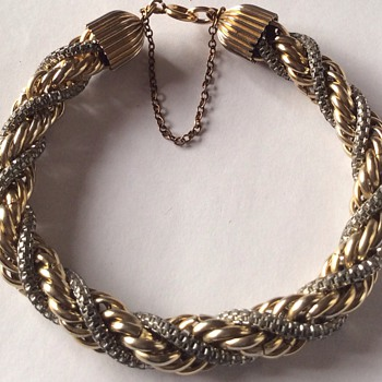 Gold and silver bracelet