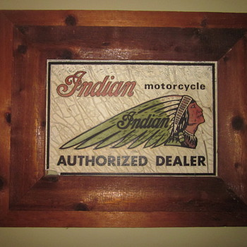 Glass Indian Authorized Dealer Sign - Signs