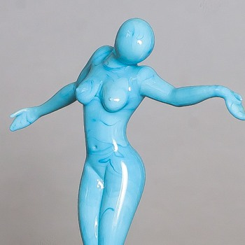 lampwork lady by unknown artist - Art Glass