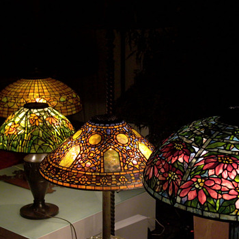 Four Tiffany Lamps - Art Glass