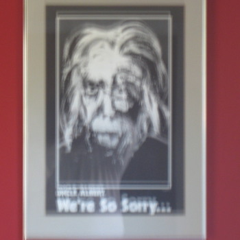 Singed and numbered 15/250) Albert Einstein Poster - VX Rosenburg 1983