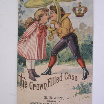 Crown Pocket Watch Case - Advertising
