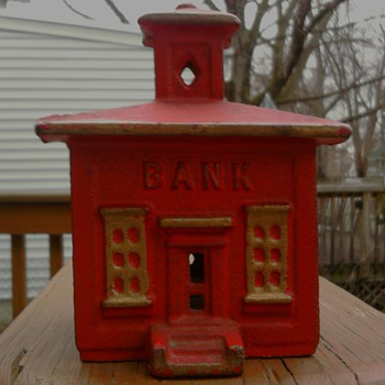 Cast Iron Bank - Coin Operated