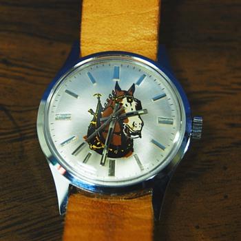"1977 Promo Budweiser ""Clydesdale"" Wrist Watch - Breweriana"