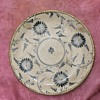 Very old Chinese ? Delft ? Hand painted sterling silver trim antique porcelain plate