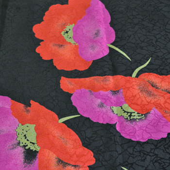 Vintage Floral Scarf - Accessories