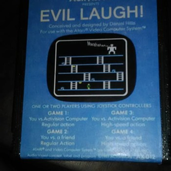 Atari EVIL LAUGH Cartridge 1981 Activision Daniel Hills MYSTERY? - Games