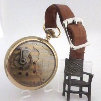Alcatraz Electric Chair Pocket Watch Fob